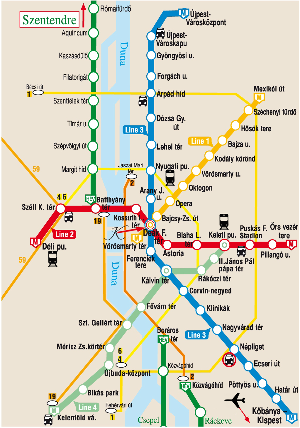 Budapest Subway Map English.Hotel Location Kempinski Hotel Corvinus Budapest