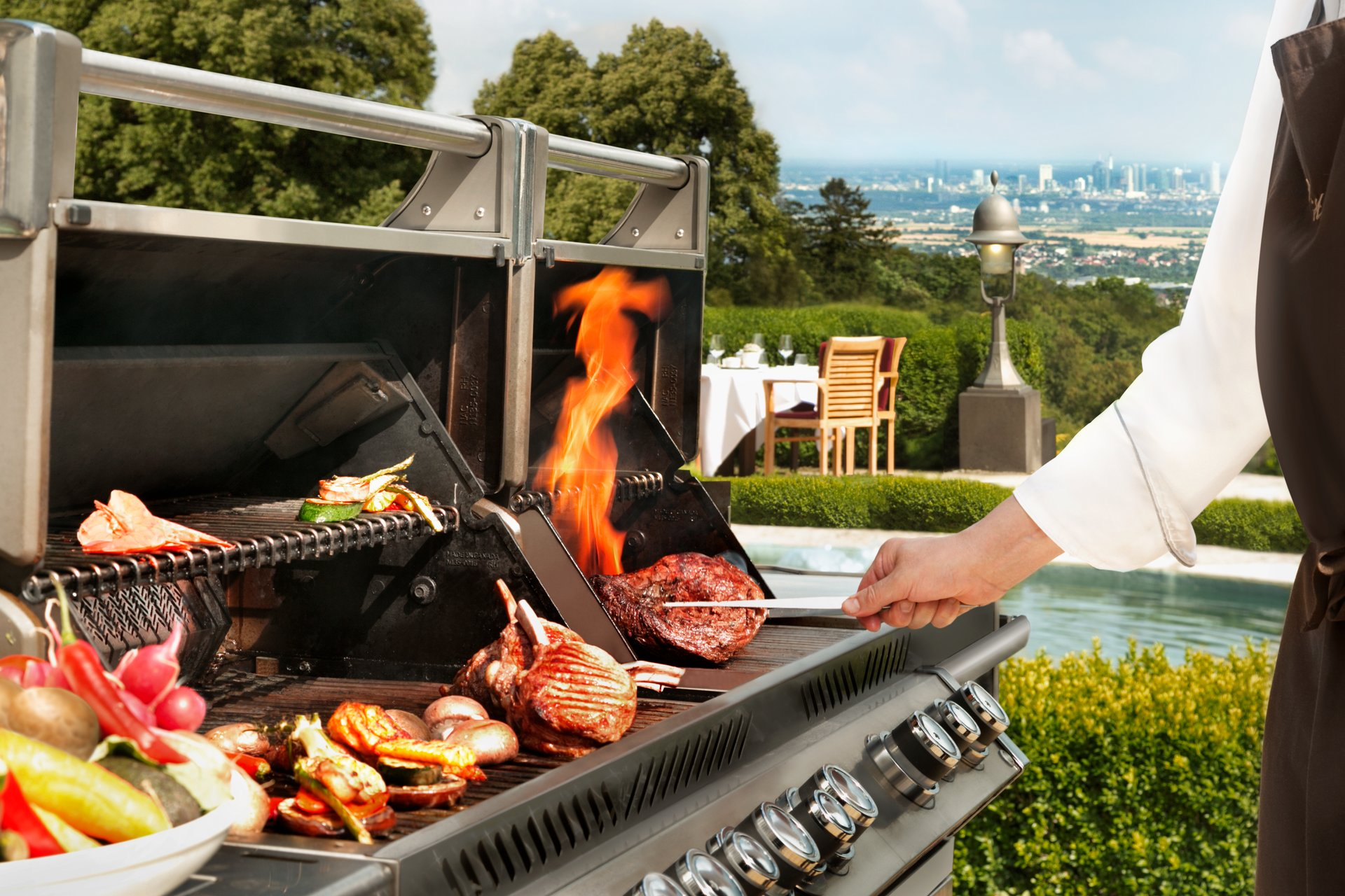 Falkenstein Grand Kempinski Skyline Barbecue Grill and View